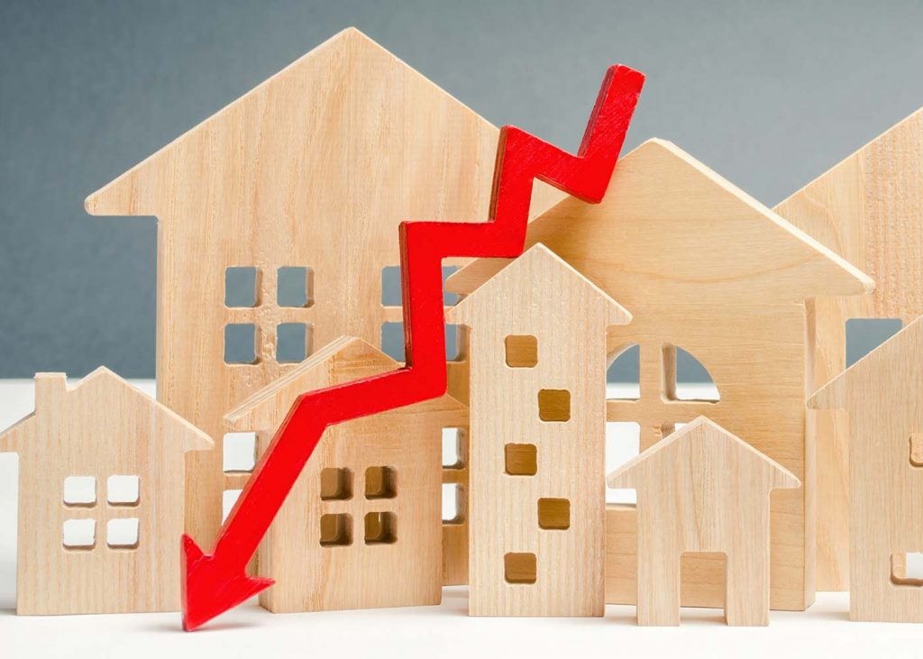 Immobilienpreise fallen